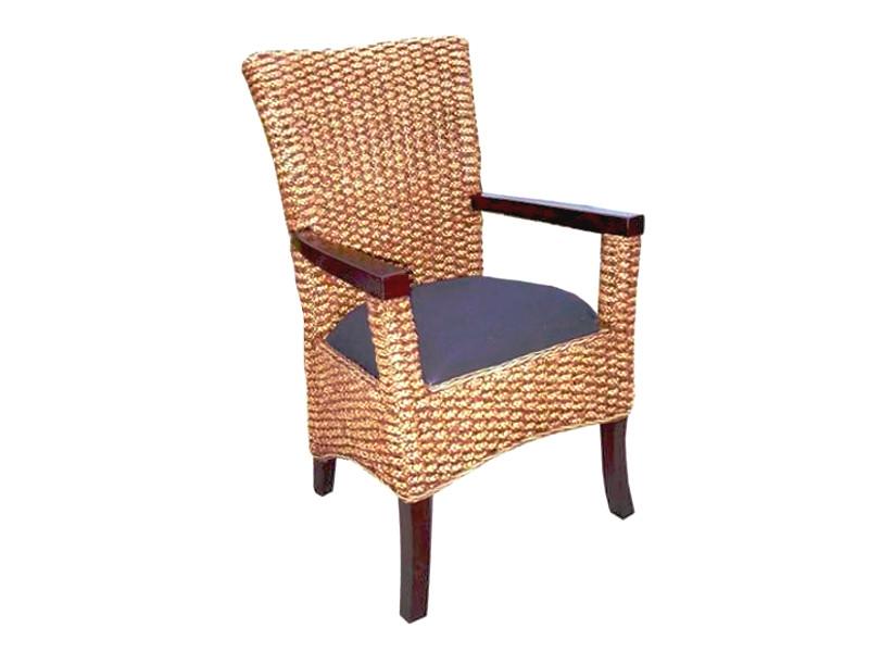 Mathilda Water Hyacinth Dining Chair, Water Hyacinth Furniture