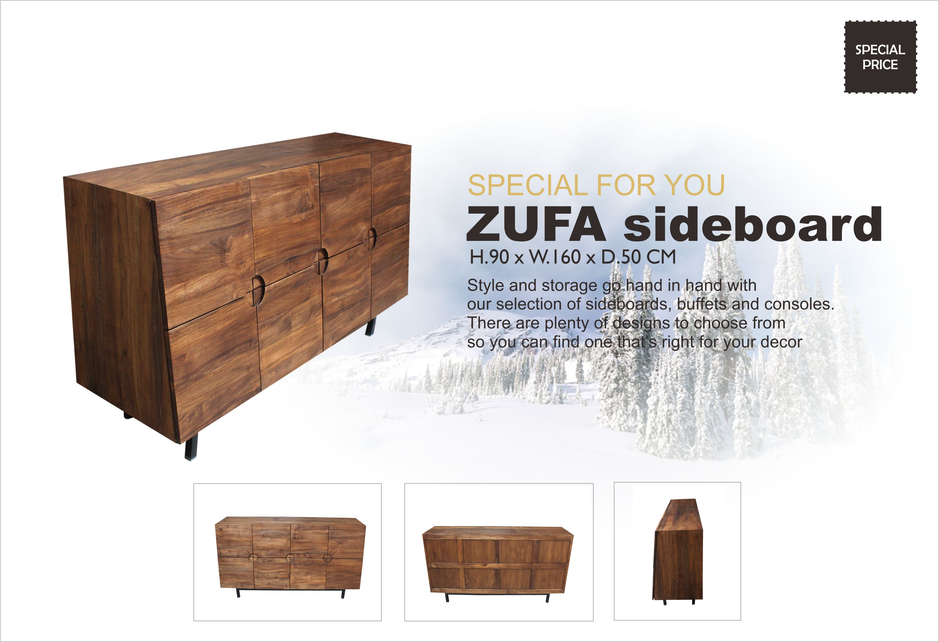 Zufa Indoor Teak Modern Sideboard Indonesia Teak Java Furniture Manufacturer Project And Wholesale
