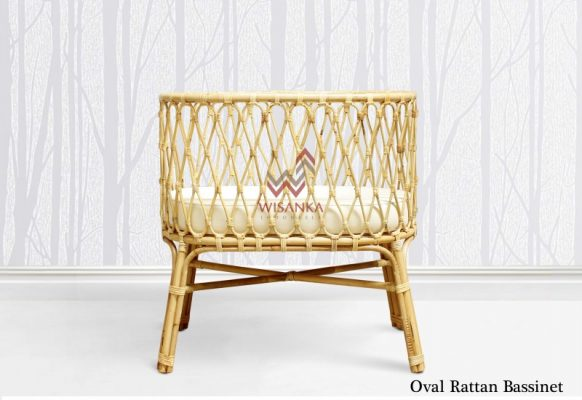 oval rattan kids furniture bassinet