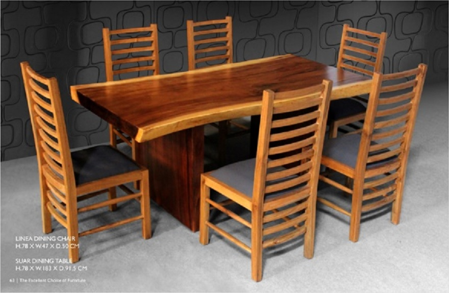 Slab Dining Table Indonesia Teak Java Furniture Manufacturer - Indonesian teak dining table