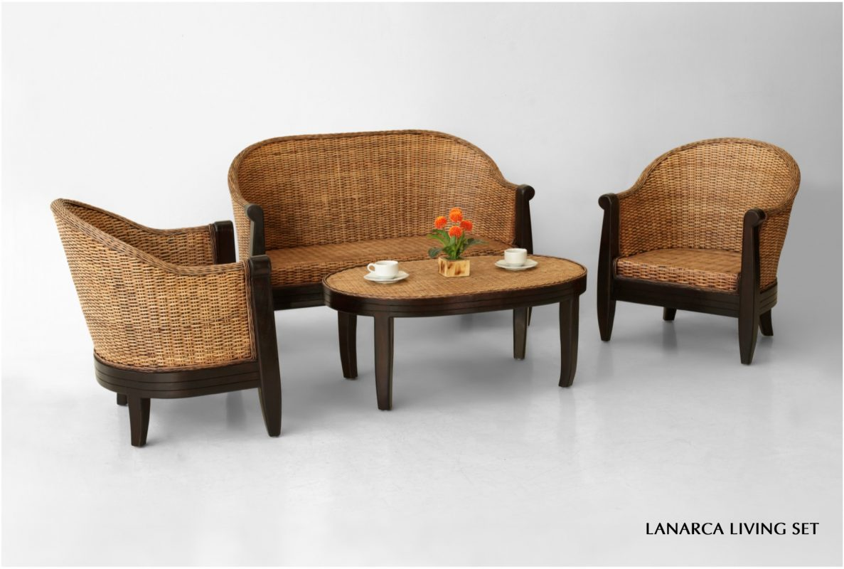 Lanarca Rattan Living Set