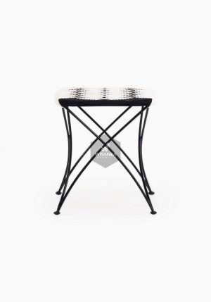 Agra Square Wicker Stool
