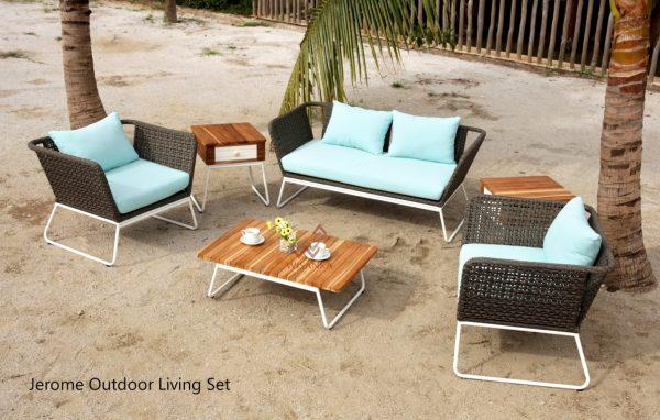 Jerome Rattan Outdoor Living Set