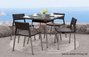 Sebuku Rattan outdoor Dining Set