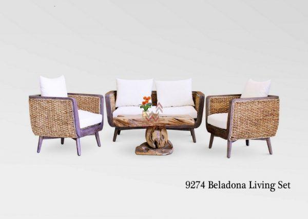 Belladona Rattan Living Set