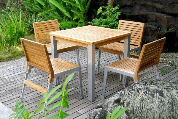 Collection Aluminum Alloy Casting Laris Dining Set
