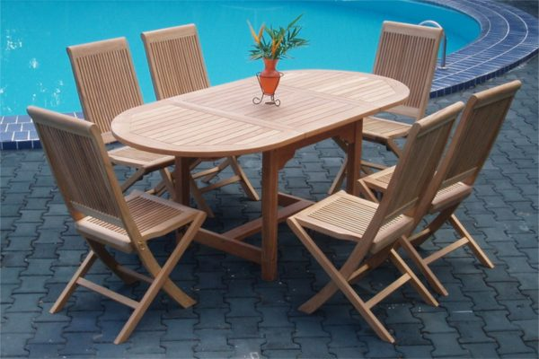 Collection Wooden Lahana Outdoor Dining Set