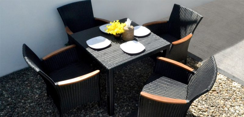 Nova Synthetic rattan Dining Set