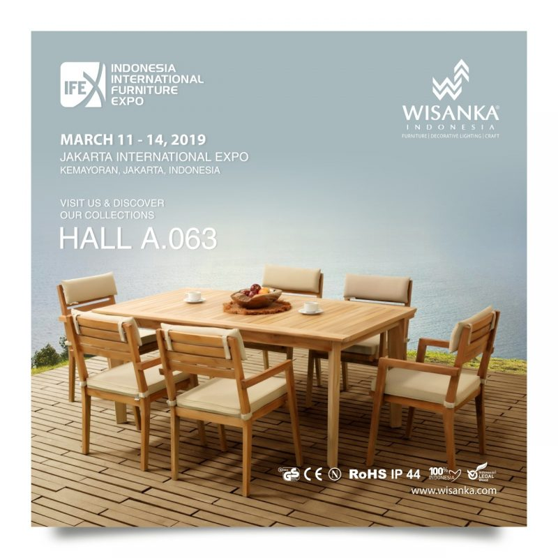 Wisanka Indonesia IFEX 2019 Outdoor Dining Set Furniture