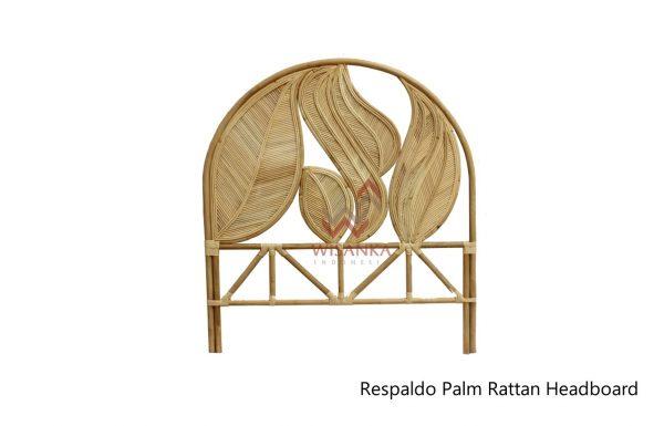 Respaldo Palm Rattan Headboard