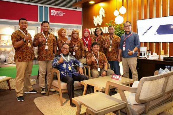 The atmosphere of the Wisanka Indonesia booth during the IFEX 2019 event, 11-14 ...