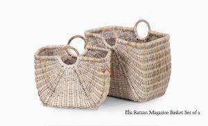 Elis Rattan Magazine Basket
