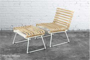 Lano Rattan Lazy Chair Set Natural