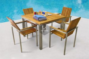 Stainless Steel New Texas Dining Set
