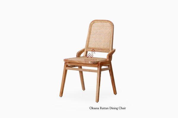 Oksana Wooden Chair, rattan furniture indonesi, indonesia rattan