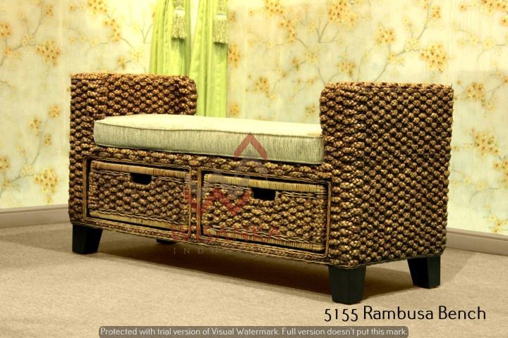 Mobili In Midollino Rattan.Panchina In Vimini Rambusa Indonesia Produttore Di Mobili In