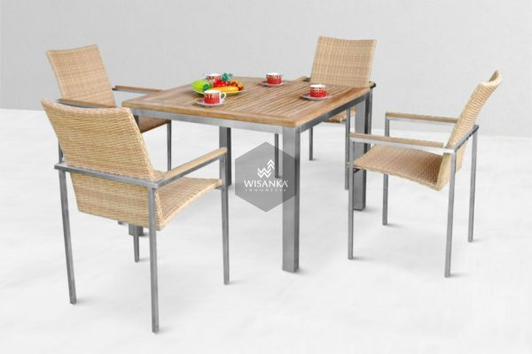 Indonesia Stainless Steel Furniture, Outdoor Dining Set Furniture, Outdoor Furniture Project, Stainless Steel Furniture, Stainless Steel Furniture Supplier, Stainless Steel Outdoor Furniture