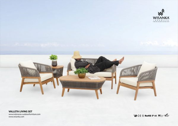 Valleta Teak Outdoor Living Sets Furniture