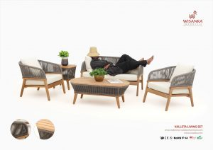 Valleta Wooden Outdoor Living Sets