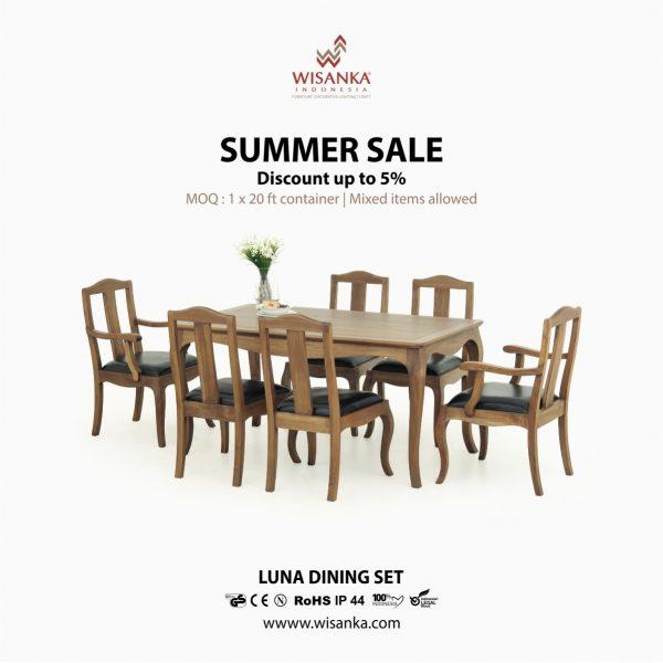 Luna Dining Set | Indoor Teak Furniture