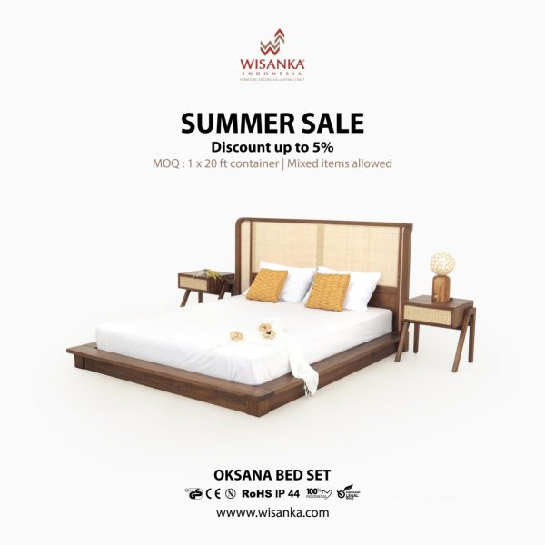 Oksana Bed Set Furniture Teak Rattan